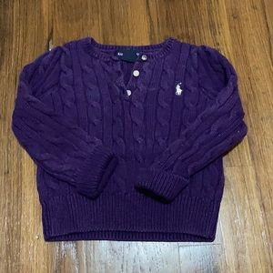 Ralph Lauren cabled sweater